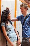 Portrait of a young couple flirting in a corridor Stock Photo - Royalty-Free, Artist: 4774344sean                   , Code: 400-05677847
