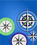 Abstract background with compass icons Stock Photo - Royalty-Free, Artist: dayzeren                      , Code: 400-05678584