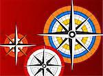 Abstract background with compass icons