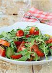 fresh spring salad with tomatoes and green salad Stock Photo - Royalty-Free, Artist: Dream79                       , Code: 400-05678996