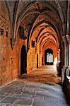 detail of the cloister of Monastery of Santa Maria de Poblet, Spain Stock Photo - Royalty-Free, Artist: nito                          , Code: 400-05679001