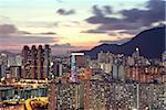 sunset in hongkong downtown Stock Photo - Royalty-Free, Artist: cozyta                        , Code: 400-05679075