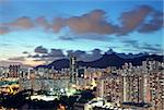 sunset in hongkong downtown Stock Photo - Royalty-Free, Artist: cozyta                        , Code: 400-05679076
