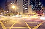Modern Urban City with Freeway Traffic at Night, hong kong Stock Photo - Royalty-Free, Artist: cozyta                        , Code: 400-05679093