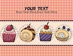cartoon cake card  Stock Photo - Royalty-Free, Artist: notkoo2008                    , Code: 400-05679213