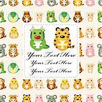12 animal,Chinese Zodiac animal  card Stock Photo - Royalty-Free, Artist: notkoo2008                    , Code: 400-05679217