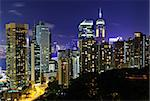 Hong Kong downtown at night Stock Photo - Royalty-Free, Artist: leungchopan                   , Code: 400-05679514