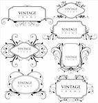 Elegance vintage frames Stock Photo - Royalty-Free, Artist: creative4m                    , Code: 400-05679732