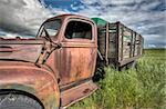 Vintage Farm Trucks Saskatchewan Canada weathered and old Stock Photo - Royalty-Free, Artist: pictureguy                    , Code: 400-05679761