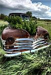 Vintage Farm Trucks Saskatchewan Canada weathered and old Stock Photo - Royalty-Free, Artist: pictureguy                    , Code: 400-05679766