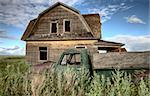 Vintage Farm Trucks Saskatchewan Canada weathered and old Stock Photo - Royalty-Free, Artist: pictureguy                    , Code: 400-05679771