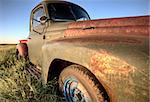 Vintage Farm Trucks Saskatchewan Canada weathered and old Stock Photo - Royalty-Free, Artist: pictureguy                    , Code: 400-05679792