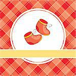 abstract baby vector illustration with red shoes Stock Photo - Royalty-Free, Artist: SelenaMay                     , Code: 400-05680332
