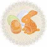 abstract vector background with rabbit and eggs Stock Photo - Royalty-Free, Artist: SelenaMay                     , Code: 400-05680341