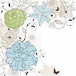 abstract cute lovely floral background vector illustration