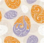 abstract seamless background with eggs vector illustration Stock Photo - Royalty-Free, Artist: SelenaMay                     , Code: 400-05680352