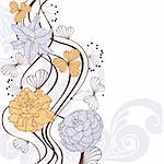 abstract cute lovely floral background vector illustration Stock Photo - Royalty-Free, Artist: SelenaMay                     , Code: 400-05680355