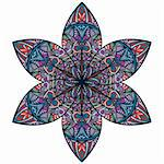 vector abstract eastern style flower Stock Photo - Royalty-Free, Artist: alexmakarova                  , Code: 400-05680389