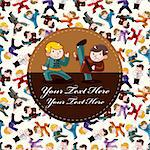 cartoon chinese Kung fu card Stock Photo - Royalty-Free, Artist: notkoo2008                    , Code: 400-05680530