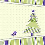 Template christmas greeting card, vector illustration Stock Photo - Royalty-Free, Artist: Tolchik                       , Code: 400-05680833
