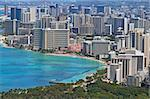 Close-up skyline of Honolulu, Hawaii showing the hotels and buildings on Waikiki Beach Stock Photo - Royalty-Free, Artist: sgoodwin4813                  , Code: 400-05680872
