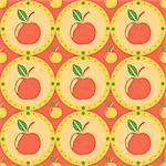cute apples pattern Stock Photo - Royalty-Free, Artist: LxIsabelle                    , Code: 400-05681049