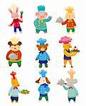 cartoon animal chef icons Stock Photo - Royalty-Free, Artist: notkoo2008                    , Code: 400-05681064
