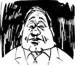 startled man caricature sketch illustration Stock Photo - Royalty-Free, Artist: izakowski                     , Code: 400-05682164