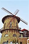 Stylish stone brick windmill against the blue sky. Stock Photo - Royalty-Free, Artist: grauvision                    , Code: 400-05682280