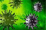 3d multi use avian virus in color background Stock Photo - Royalty-Free, Artist: rbhavana                      , Code: 400-05682795