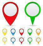 Vector Set of Map Markers Stock Photo - Royalty-Free, Artist: _human                        , Code: 400-05682840