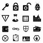 Security and safety related icon set Stock Photo - Royalty-Free, Artist: soleilc                       , Code: 400-05683198