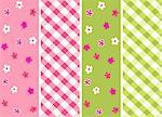 baby girl seamless patterns with fabric texture