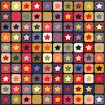 Seamless stars colorful pattern Stock Photo - Royalty-Free, Artist: lemony                        , Code: 400-05683284