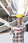 handsome hard worker people portrait at concstruction site Stock Photo - Royalty-Free, Artist: dotshock                      , Code: 400-05683624