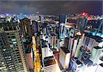 Hong Kong downtown at night Stock Photo - Royalty-Free, Artist: leungchopan                   , Code: 400-05684562