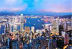 Hong Kong at night Stock Photo - Royalty-Free, Artist: leungchopan                   , Code: 400-05684575