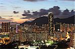 kowloon at night Stock Photo - Royalty-Free, Artist: leungchopan                   , Code: 400-05684607