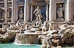 Trevi fountain during a sunny day, Rome, Italy