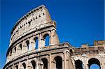Colosseum in Rome with blue sky, landmark of the city Stock Photo - Royalty-Free, Artist: Perseomedusa                  , Code: 400-05684630