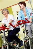 sweaty woman - Two active senior women exercising in gym Stock Photo - Royalty-Freenull, Code: 400-05684747
