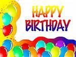 happy birthday Stock Photo - Royalty-Free, Artist: salvatore70_2000              , Code: 400-05684832