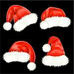 Santa Claus caps. Mesh. Stock Photo - Royalty-Free, Artist: Lep                           , Code: 400-05685066