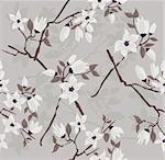 Cute and modern cherry blossom seamless pattern. Stock Photo - Royalty-Free, Artist: lapesnape                     , Code: 400-05685187