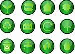 green eco icons Stock Photo - Royalty-Free, Artist: amphotos_ct                   , Code: 400-05685435