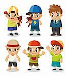 cartoon kid icon set  Stock Photo - Royalty-Free, Artist: notkoo2008                    , Code: 400-05686241