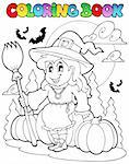 Coloring book Halloween character 4 - vector illustration. Stock Photo - Royalty-Free, Artist: clairev                       , Code: 400-05686860