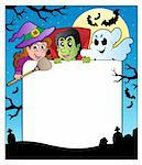 Frame with Halloween characters 2 - vector illustration. Stock Photo - Royalty-Free, Artist: clairev                       , Code: 400-05686869