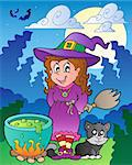 Halloween character scene 1 - vector illustration. Stock Photo - Royalty-Free, Artist: clairev                       , Code: 400-05686874