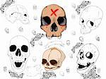 A hand drawn skull for your desings. Stock Photo - Royalty-Free, Artist: jeremywhat                    , Code: 400-05687204